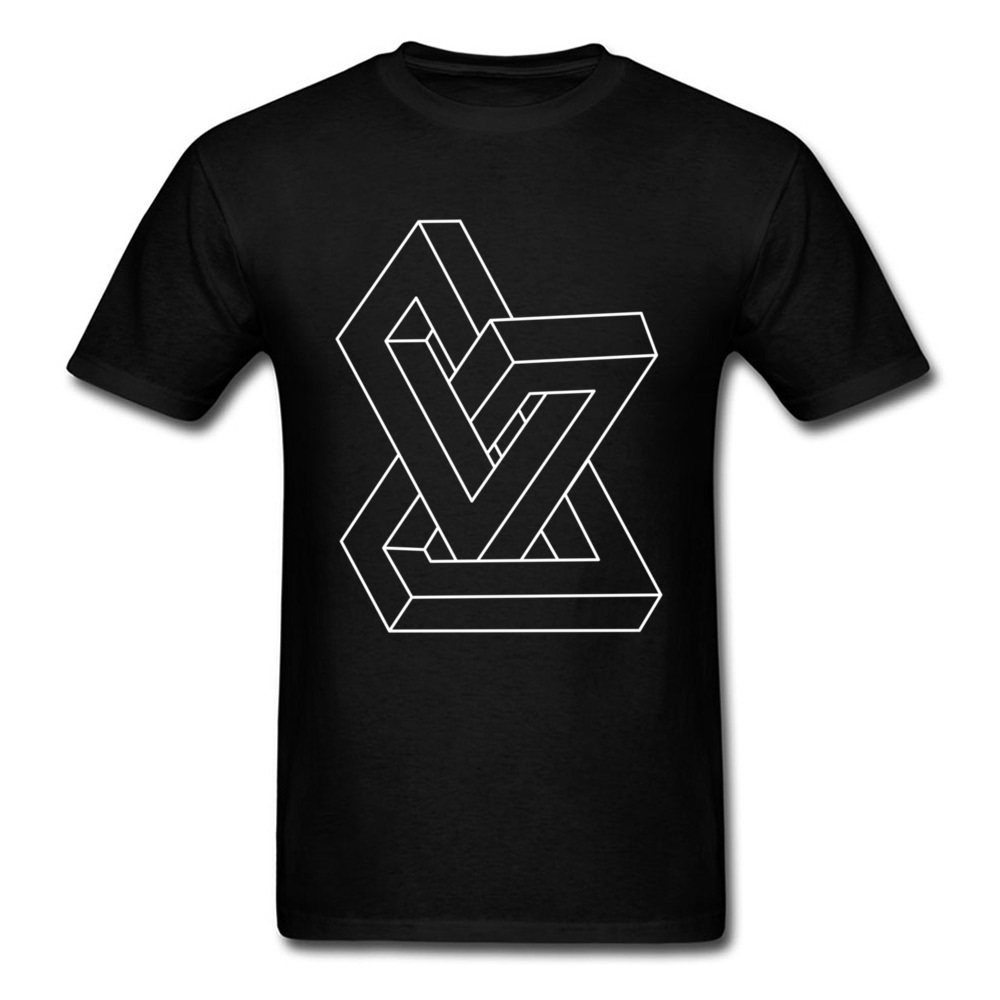 Discount Cheap Men T-Shirt Crew Neck Short Sleeve Design Geometry Tees Personalized Mens T Shirt College Free Shipping