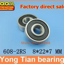 50 шт./лот 608-2RS 608RS 608 2RS R-2280HH 8*22*7 мм Высокое качество ABEC-5 Z3V3 minideep жёлобом китайского фабричного производства