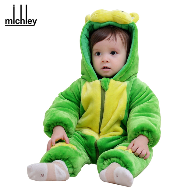 44f87233fc18 MICHLEY Winter Baby Clothes Newborn Cartoon Halloween Jumpsuit Boy ...