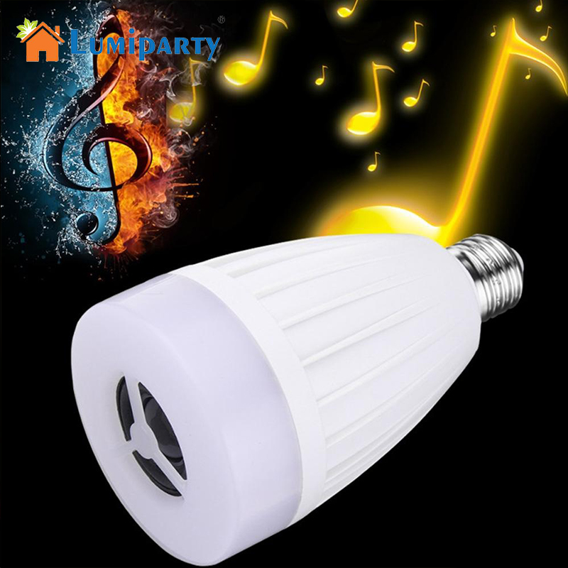 LumiParty E27 APP Remote Control Multi Colors Change LED Smart Light Bulb Bluetooth Speaker Music Play