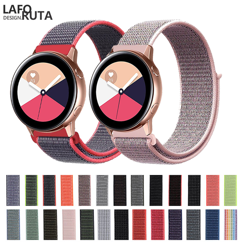 Laforuta 20mm Watch Band Quick Release For Samsung Galaxy Watch Active Band Galaxy 42mm Strap Classic S2 Nylon Sport Watch Band
