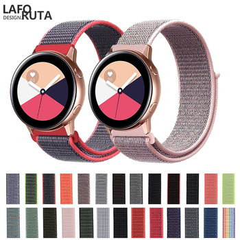 Laforuta 20mm Watch Band Quick Release for Samsung Galaxy Watch Active Band Galaxy 42mm Strap Classic S2 Nylon Sport Watch Band laforuta nylon band for samsung galaxy watch active band galaxy 42mm strap classic s2 sport 20mm quick release watch band