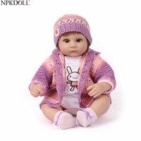 NPKDOLL 16 Inch Baby Reborn Dolls Cloth Body Toys Hobbies Silicone Baby Doll Girl Princess Birthday Toddler Toys Educational