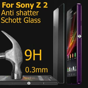 Tempered Curve glass For Sony Xperia Z2 screen protector HD film ultra thin guard Anti-Bubble Crystal Shield Explosion-Proof