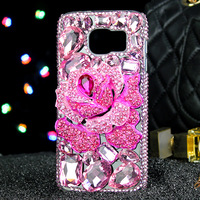 Luxury Diamond Blue Pink Enchantress Water Drop Soft Case For Samsung Galaxy S5 S6 S7 S8