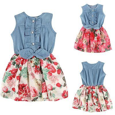 children s clothing summer floral print girl font b dress b font cotton vestidos baby girl