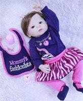 DollMai Lifelike Full Silicone Reborn Baby real Alive 23'' Newborn babies born Dolls bebes reborn menina bonecas