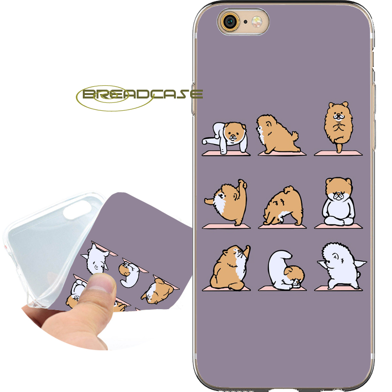 Fundas Pomeranian Yoga Soft Clear TPU Silicone Phone Cases for iPhone X 8 7 6S 6 Plus 5S SE 5 5C 4S 4 Case iPod Touch 6 5 Cover.