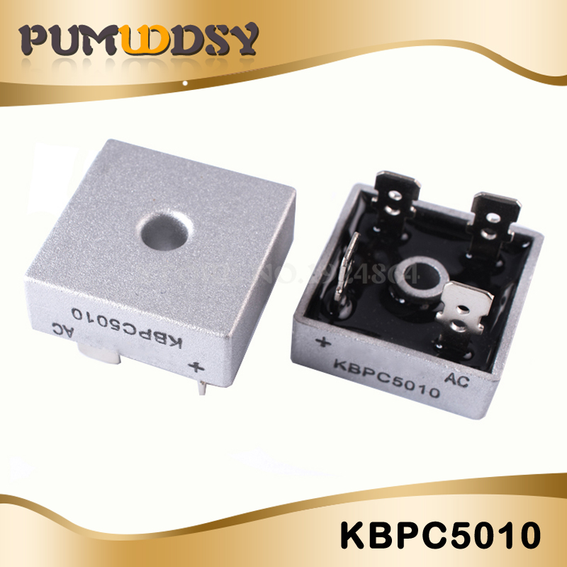 1PCS KBPC5010 1000V 50A  DIP Diode Bridge Bridge Rectifier New And Original IC