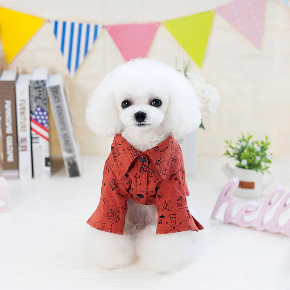 Dog Clothes For Small Dogs Pet Products Dog Clothing Pet dog Clothes Apparel summer Teddy Bear Graffiti Shirt
