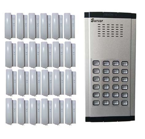 SMTVDP Home Security Direct Press Key Audio Door Phone for 24 apartments, 2-wired audio intercom system in stock