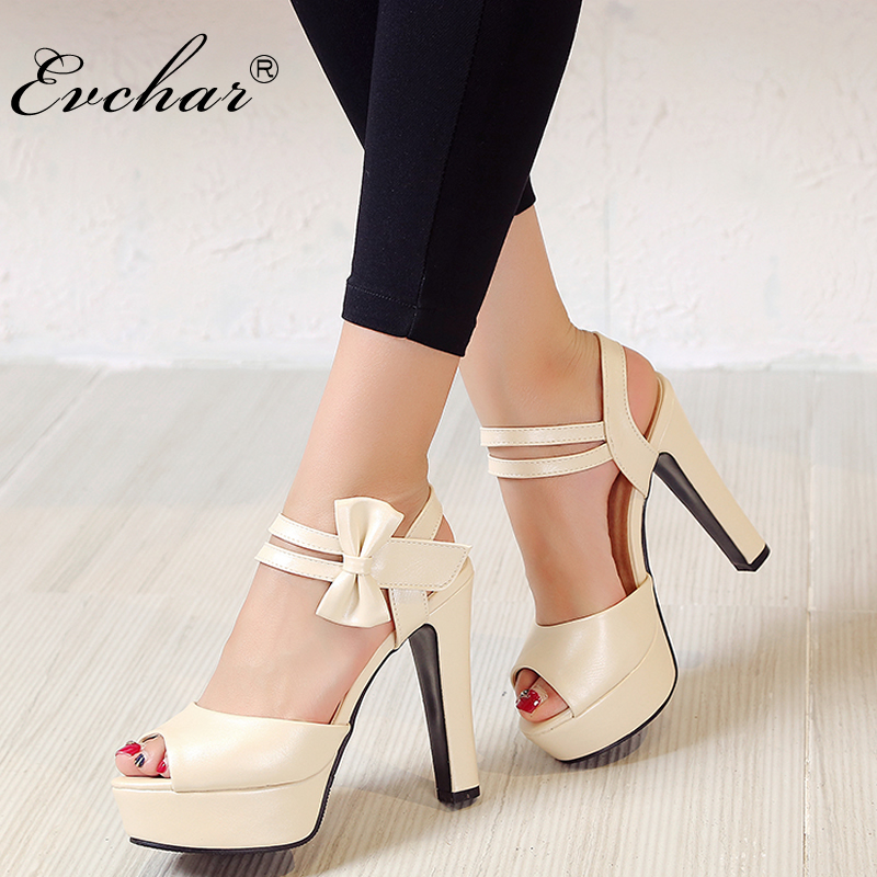 New Ladies thin high heels open toe shoes women summer fish mouth platform shoes sweet heart Princess sandals big size 33-43