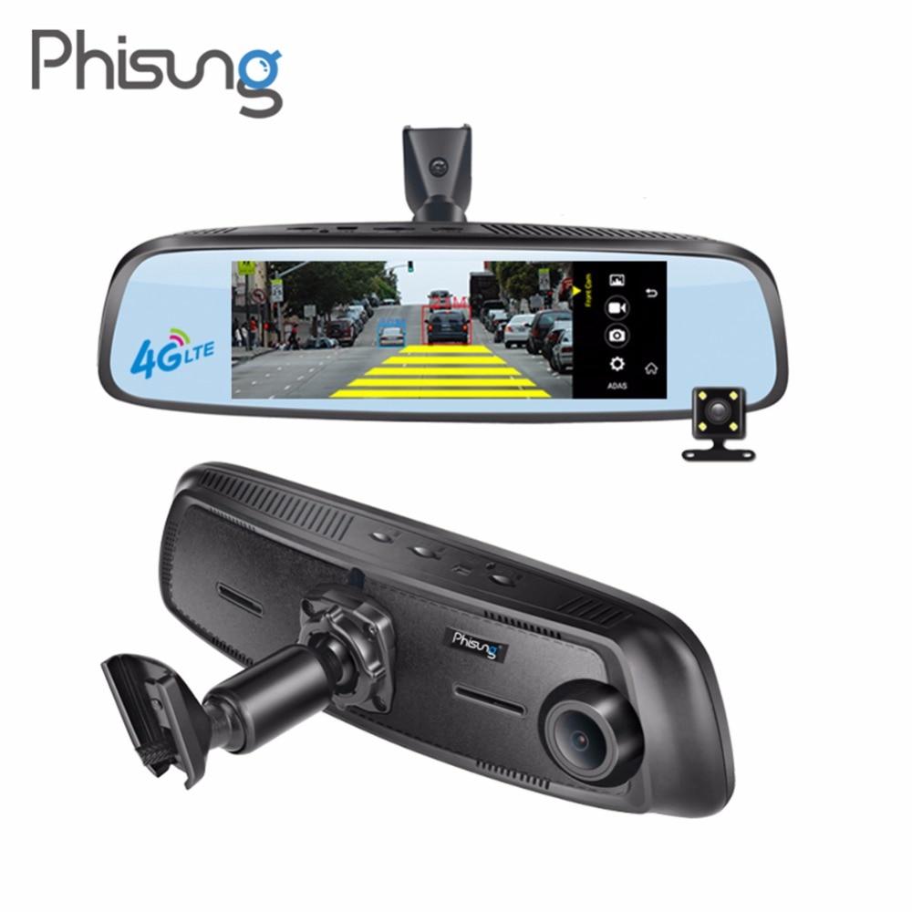 Phisung E09 7.84in FHD 1080 p Dual Lens Macchina Fotografica Dell'automobile DVR Video Recorder Specchio Retrovisore Registratore Digitale 4g ADAS dash Cam