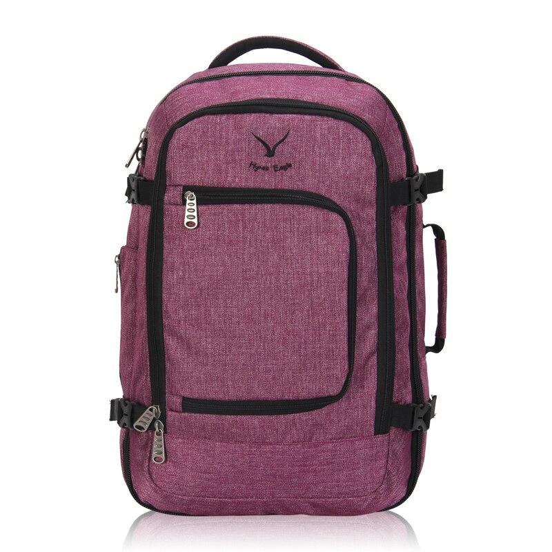 2018 модные дизайнерские путешествия рюкзак 40L полета утвержденных нести рюкзак для Для мужчин Для женщин большой Чемодан дорожные сумки шко