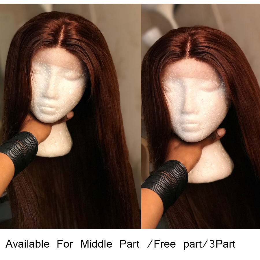 #4 Light Brown Brazilian Lace Front Human Hair Wigs ALIPOP 130% Lace Front Wig Straight Human Hair Wigs Natural Hairline 10-26 (21)