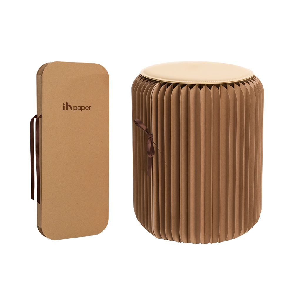 Ihpaper Creative Paper Stool Round Seat For Home Furniture