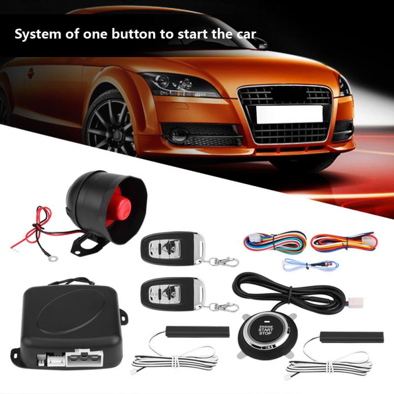 1Set Universal Car Alarm System Engine Ignition Keyless Entry Push Button Remote Starter New Arrive Anti-theft