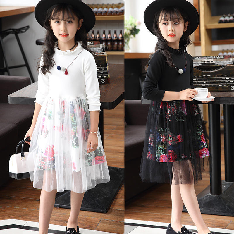 Girls Dress 2016 Summer Kids Dresses Girls Clothes Layered Dress Sequins Voile Party Princess Dress Children