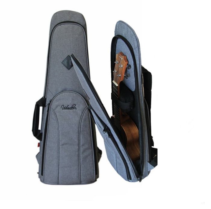 21 23  Ukulele Instrument Bags Ukelele Bag With Double Shoulder Strap Bag Canvas Guitar Bags & Cases National Wind top quality thicken ukulele bag mini guitar bag cute cat case 21 23 26 inch guitar box cover guitar backpack double strap