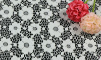 1 Yardas 91*150 cm, Blanco Ojal Voile de Algodón Suizo Tela, Africano Telas de Encaje de Algodón Floral, Accesorios de Bricolaje Material de Tela de costura