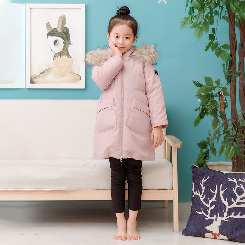 Bilemi candy solid color zipper long sleeve white duck down coat toddler girl down jacketBilemi candy solid color zipper long sleeve white duck down coat toddler girl down jacket