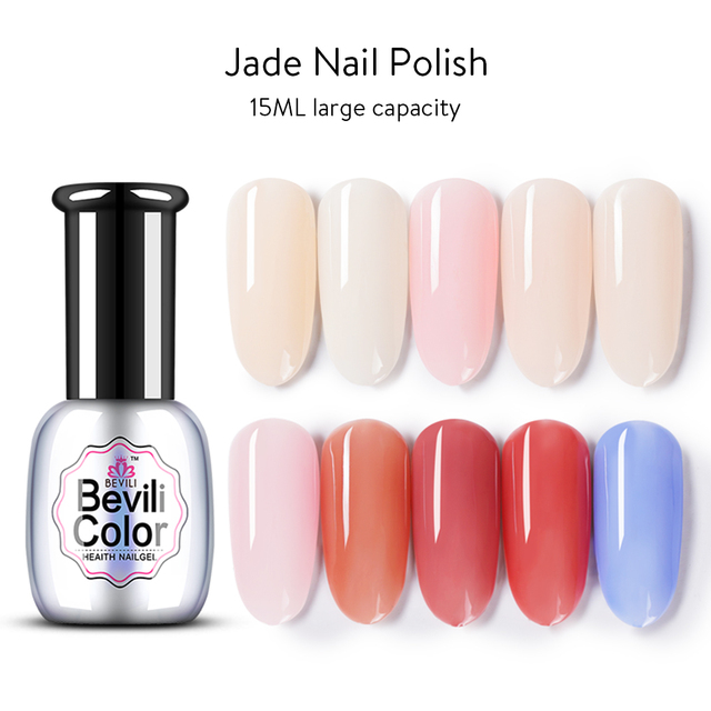 Bevili Color 15ml Nail Polish Glue Powder Skin 2018 New Jelly