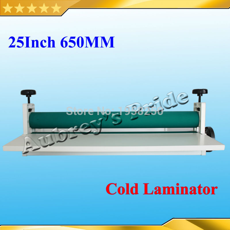 Free Shipping Manual Metal 25 5Inch 650mm Cold Laminator Laminating Machine Photo Vinyl Protect Rubber