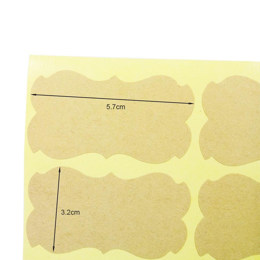 800 pcs lote vintage em branco forma 01