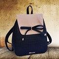 2015 novas mochilas da moda borboleta nó bolsa de ombro mulheres saco saco de estudante