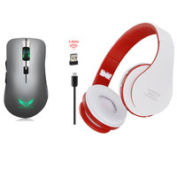 Rechargeable 2 4G 2400 USB DPI Wireless Portable Mouse 6 Button Optical Office Mice Foldable Bluetooth
