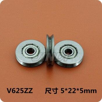 """Fixmee 2 piezas """"V"""" surco 22mm rueda redonda de acero rodamiento de la polea rodillo para 3mm cuerda de alambre"""