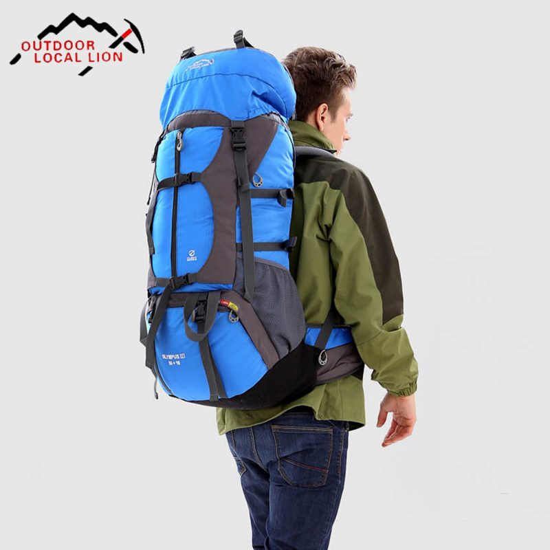 65L Waterproof Outdoor Hiking Backpack Climbing Trekking Camping Mountain Travel Bags Pack Knapsack blog flashlight outdoor 5led pocket strong waterproof 8 hours to illuminate mountain climbing camping p004