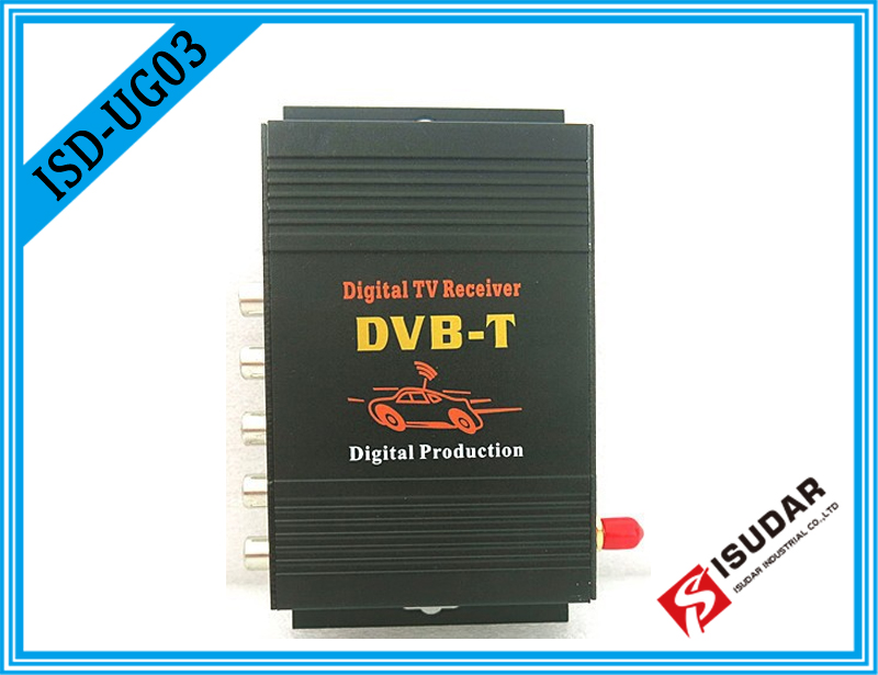 Car HD DVB-T MPEG-4 Mobile Digital TV Turner Receiver 3 Way Video Output Dual Audio Channel Output For Europen mini hd dvb t2 terrestrial digital tv receiver support 3d black