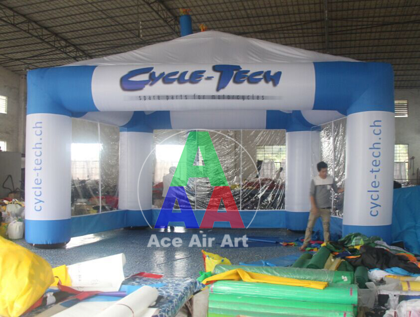 2015 New Style Inflatable Tent With Transparent Wall And Expend Entrance For Exhibition,Trade Show supon 6 color options screen chroma key 3 x 5m background backdrop cloth for studio photo lighting non woven fabrics backdrop