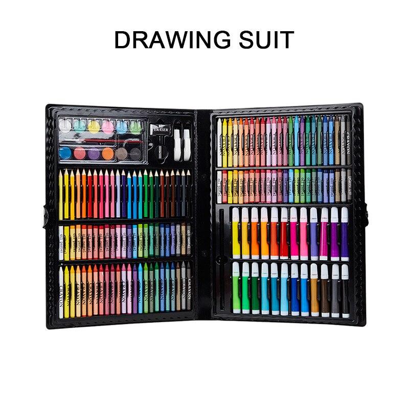 168 pièces enfants de luxe dessin Art ensembles étudiant Palette boîte aquarelle pinceau stylo peinture outils pour enfants cadeau boîte Art fournitures