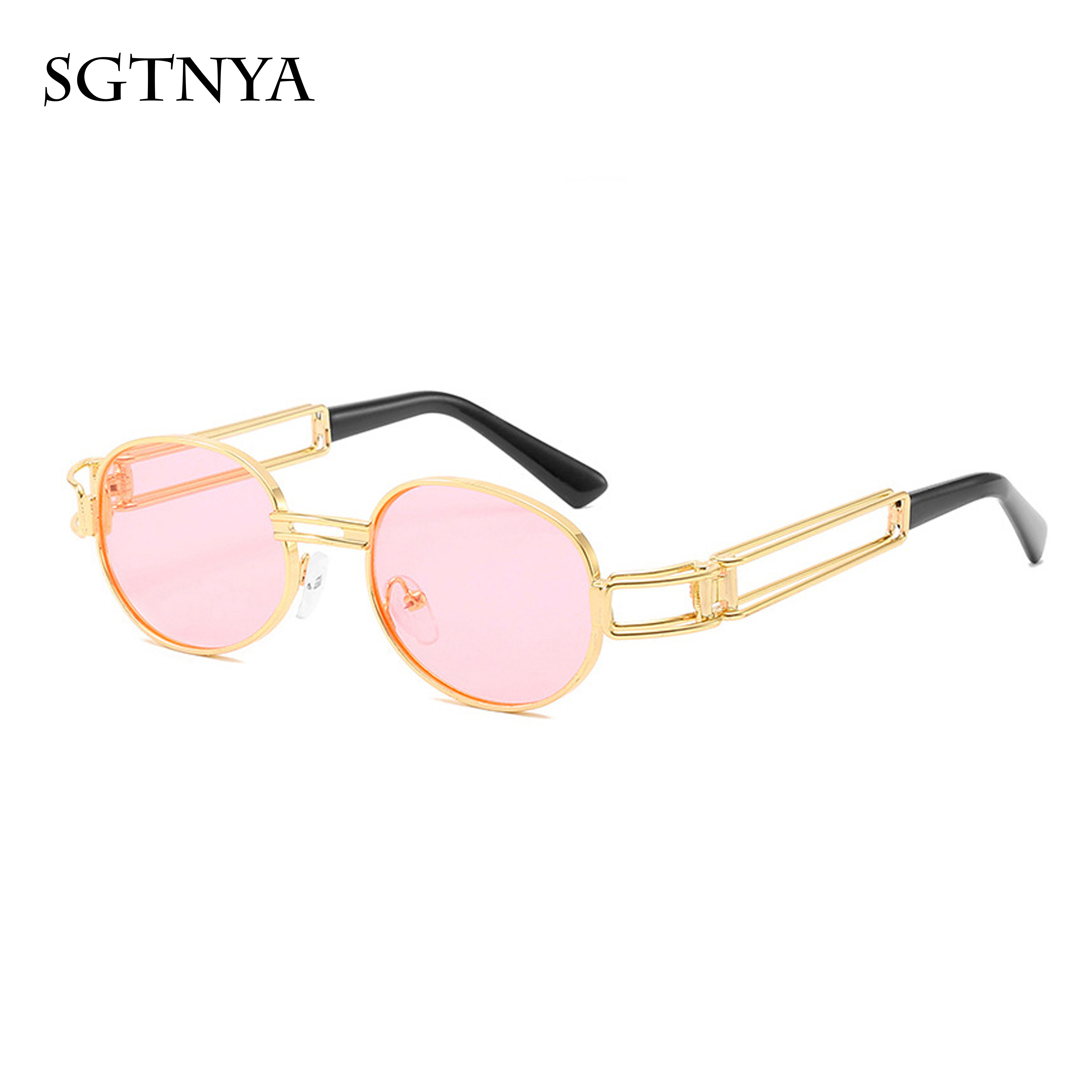 Personality sunglasses for men and women hollow sunglasses Classic metal steam retro punk sunglasses in Women 39 s Sunglasses from Apparel Accessories