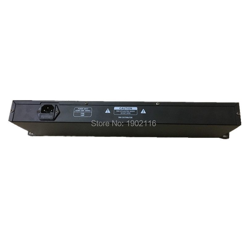DHL/FedEx Бесплатная доставка Best качество 8ch DMX Splitter DMX512 свет прожекторов сигнала Усилители домашние Splitter 8 Путь DMX Дистрибьютор