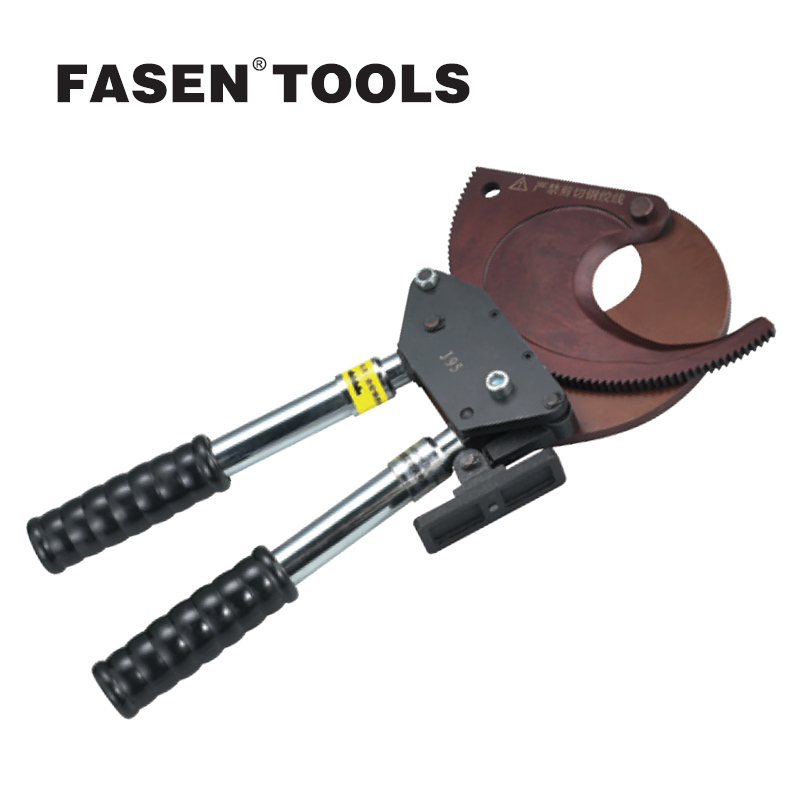 FASEN TOOLS J95 Ratchet Cable Cutter Adjustable handles Wire Cutter Plier 95mm not for cutting steel wire High quality tools  ratchet style and aluminum wire cable cutter maintenance tools hs 520a
