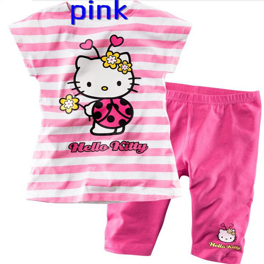 de8271deb Aliexpress.com : Buy COSPOT Baby Girls Summer Hello Kitty Clothing Set  Girls Suit T Shirt+Pants Girls Striped Sets Baby Girl Clothes 2019 New Free  15 from ...
