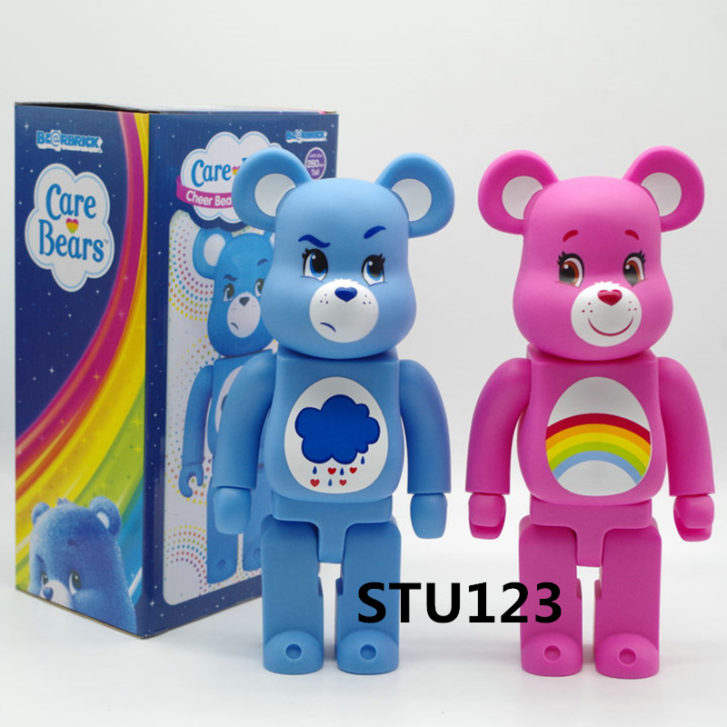 11 Inches Bearbrick 400% Be@rBrick Care Bears Rainbow bear Raining bear PVC Action Figure Collectible Model Toy Box 28cm N596