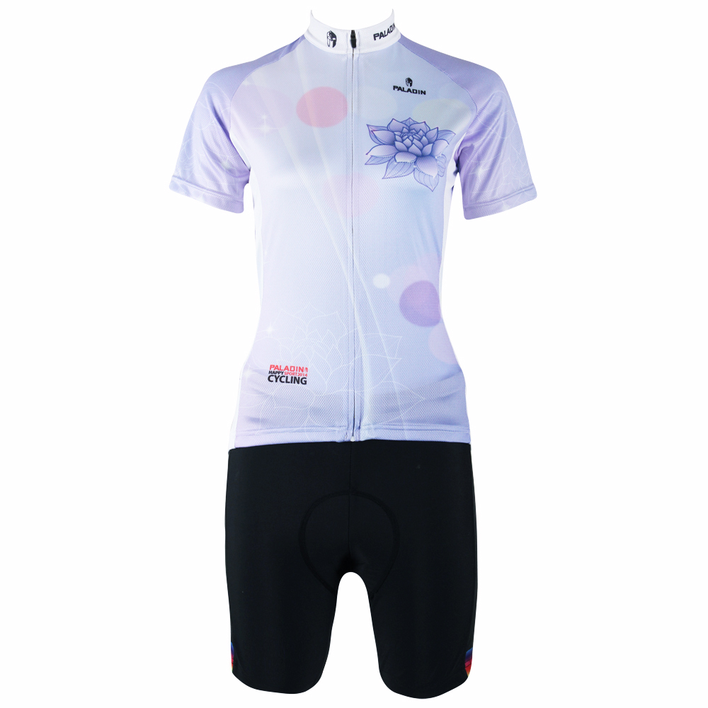 2016 New Women hot top Sleeve Cycling Jersey Blue Lotus Bike Clothing Breathable Cycling Clothing Size XS To 6XL ILPALADIN 2016 new men s cycling jerseys top sleeve blue and white waves bicycle shirt white bike top breathable cycling top ilpaladin