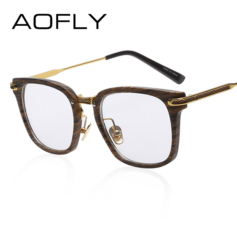 f61cb35110b AOFLY Fashion Newest Style Frame Plain Eyeglass Frame Optics Clear Reading Glasses  Trendy Goggles for Men