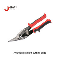 Jetech tin sheet metal aviation scissor left edge industrial industry household work cutting cutter iron tool chrome vanadium