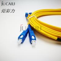 Jucaili 2 PCS printer fiber cable SC/SC UPC Simplex 2.0mm 3.0mm PVC Double core Fiber Patch Cable patch cord For EPSON printer
