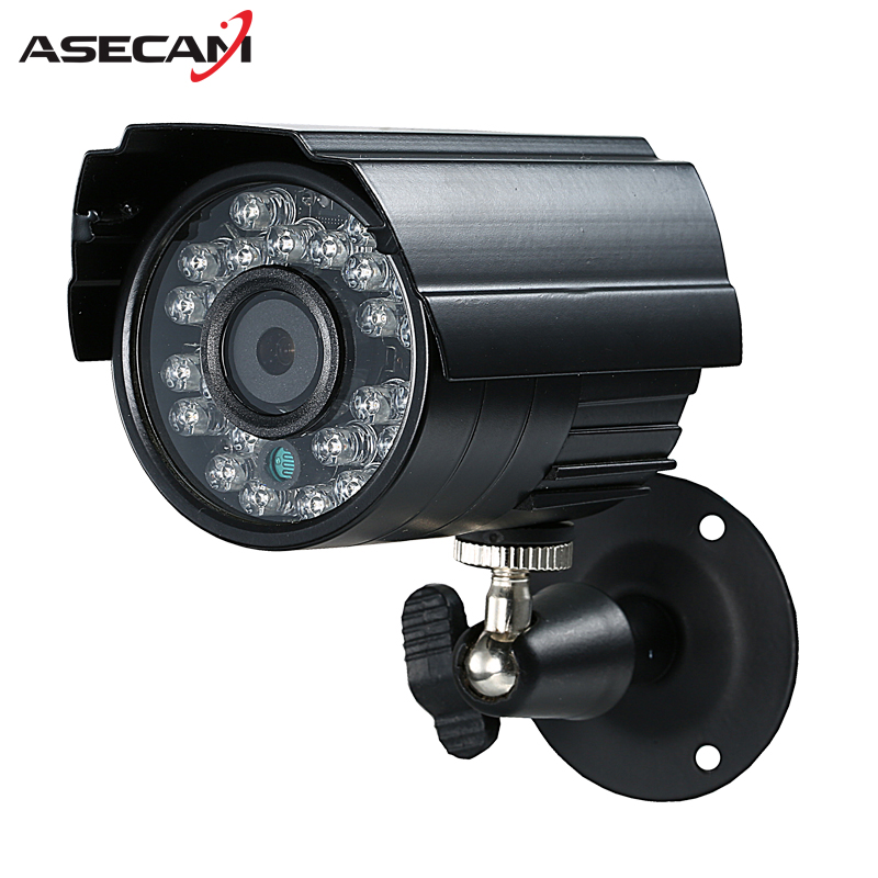 Asecam Sony CCD 960H Effio 1200TVL CCTV MINI  Bullet Surveillance Outdoor Waterproof 24led infrared Security Camera hqcam 700tvl sony ccd nextchip 2090 osd menu mini bullet camera mini ccd outdoor waterproof 2 8mm cctv security camera for 960h