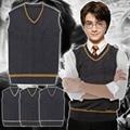 Movie Harry Potter Cosplay Harry Potter Hogwarts School Uniform Costume Cosplay Vest and Tie Halloween Costume for Men S-XXL
