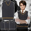 Película Harry Potter Cosplay Harry Potter Hogwarts Escuela Uniforme Cosplay Traje de Chaleco y Corbata Traje de Halloween para Los Hombres S-XXL