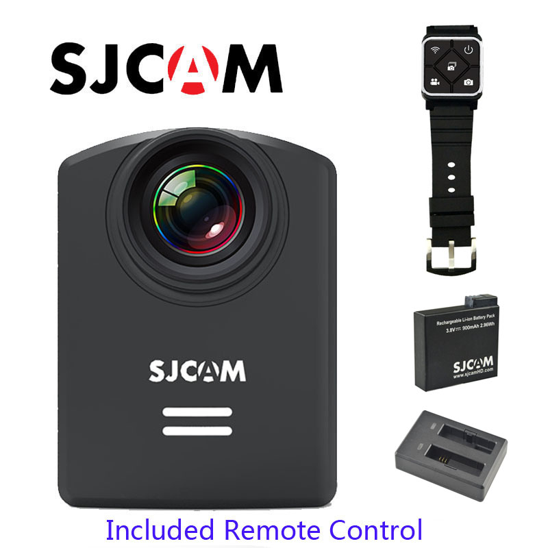 Free Shipping!! Original SJCAM M20 WiFi Gyro 30M Waterproof Mini Sports DV with Remote Control+Extra Battery+Battery Charger image
