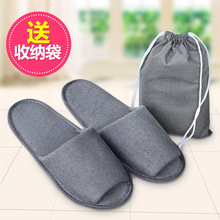 New Simple Slippers Men Women Hotel Travel  Portable Folding House Disposable Home Guest Indoor Big Size Shoes