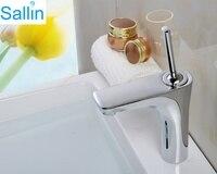 European Chrome Brass Swivel Single Handle Basin Water Mixer Tap Bathroom Sink Washbasin Counter Top Vanity
